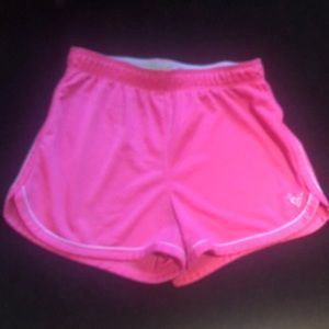 Justice pink shorts w/white outline. Girl's Sz 10